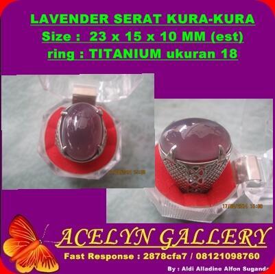 Dimaharkan Lavender serat kura