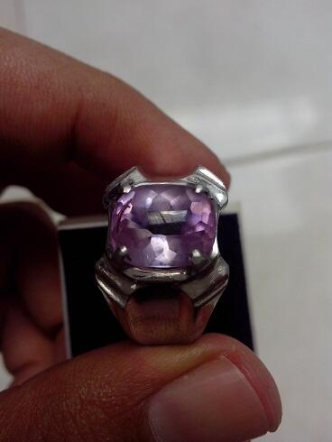 Cincin Batu Lavender,Rose Quartz, Amethyst Clean