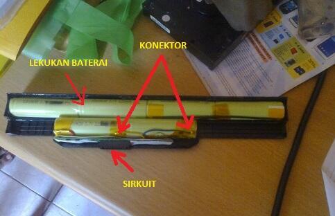 MENGGANTI (REFILL) CELL BATERAI LAPTOP ITU MUDAH !!!