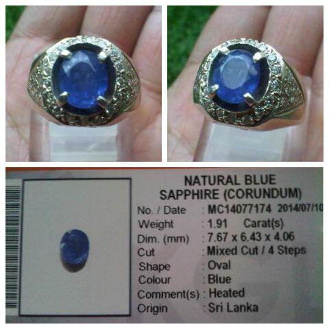 Blue Sapphire Ceylon 1,91 crt