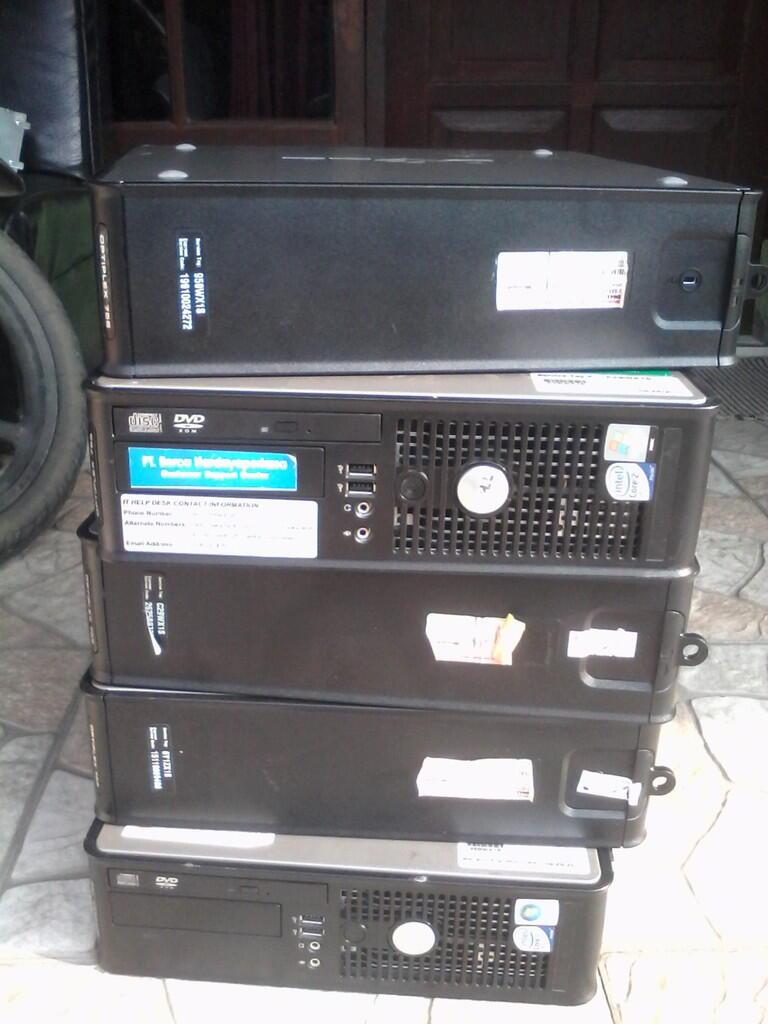 Paket Built Up Dell optiplex 755 Slim + LCD 19 inch Dell kotak ( Bogor)