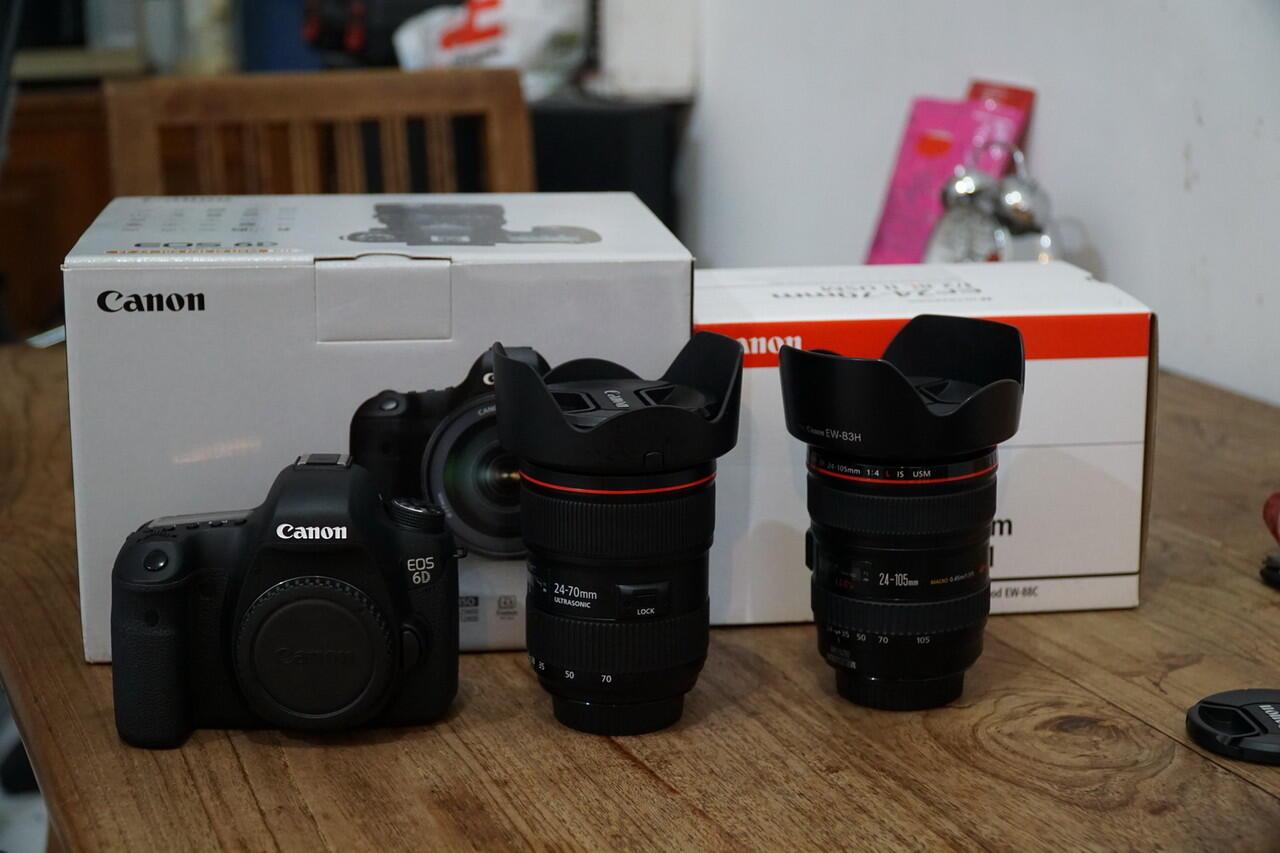 canon 6d wifi kit + 24 70L mk2