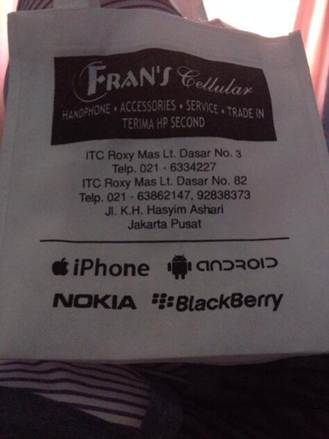 Beware FRANS CELLULAR ITC ROXY MAS Lantai Dasar