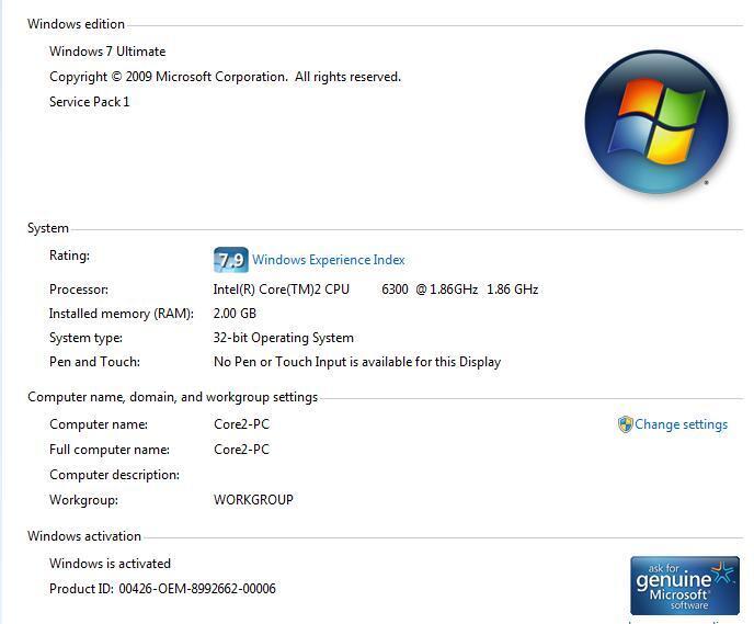 CPU Core 2 Duo + LCD 17 inch