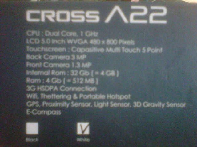 Cross Andromeda A22 2nd murah.