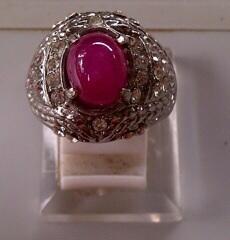 Batu mulia Ruby Birma / Rubi Birma star laba natural
