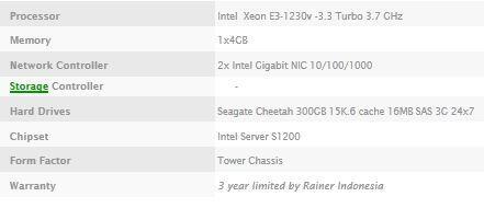 "Desktop Server ""Rainer SV110C4-3.3 SAS35NR"""