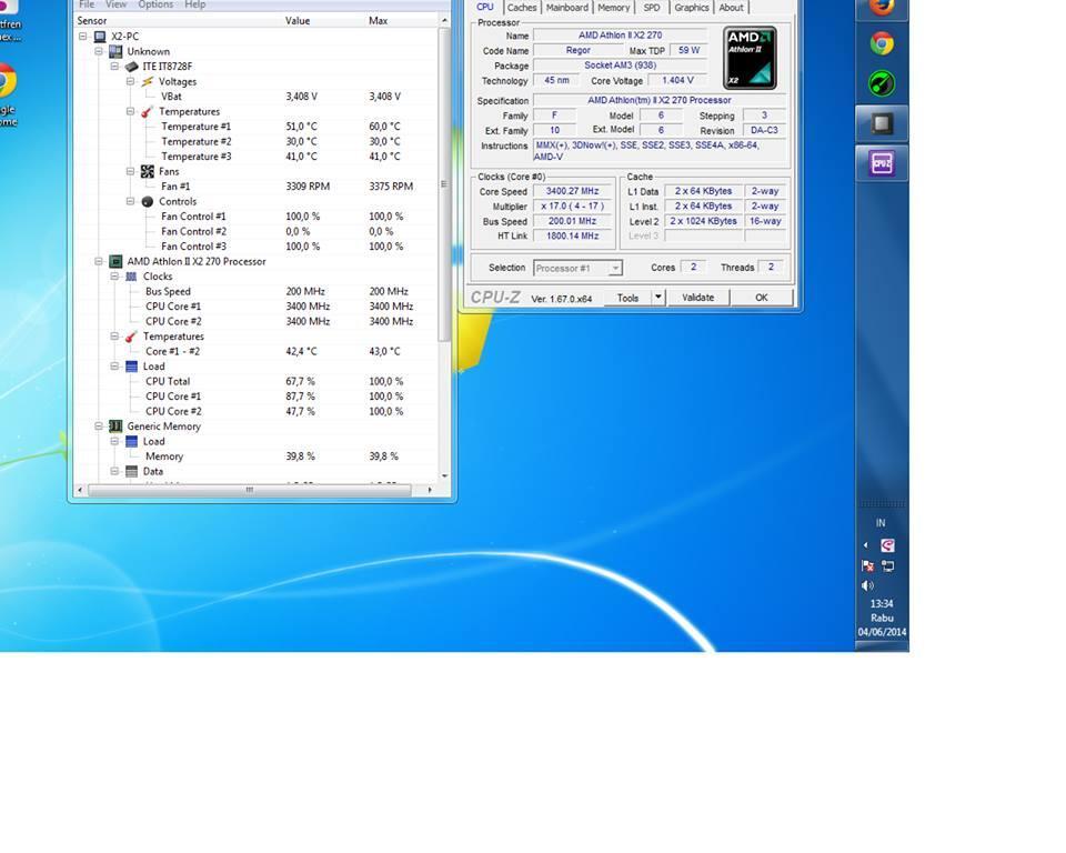 JUAL AMD X2 270 PEMAKAIAN 3 BLN