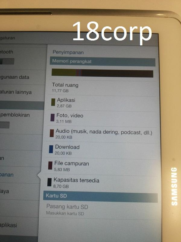 "DIJUAL Samsung Galaxy TAB 2 10"" GT-P5100 3G+Wifi PUTIH (Bonus CAPDASE)"