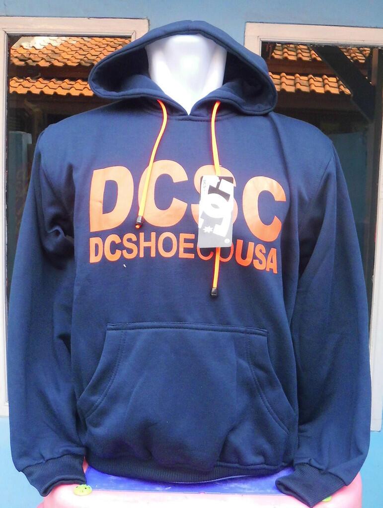 Sweater DC Navy Sablon Orange