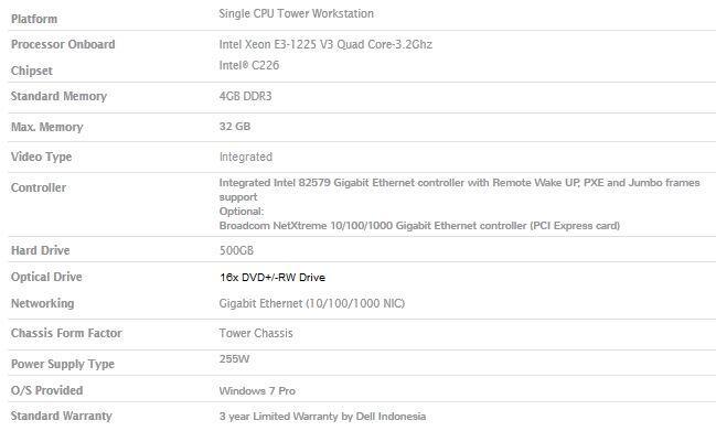 """Komputer Server """"DELL Precision T1700"""""""