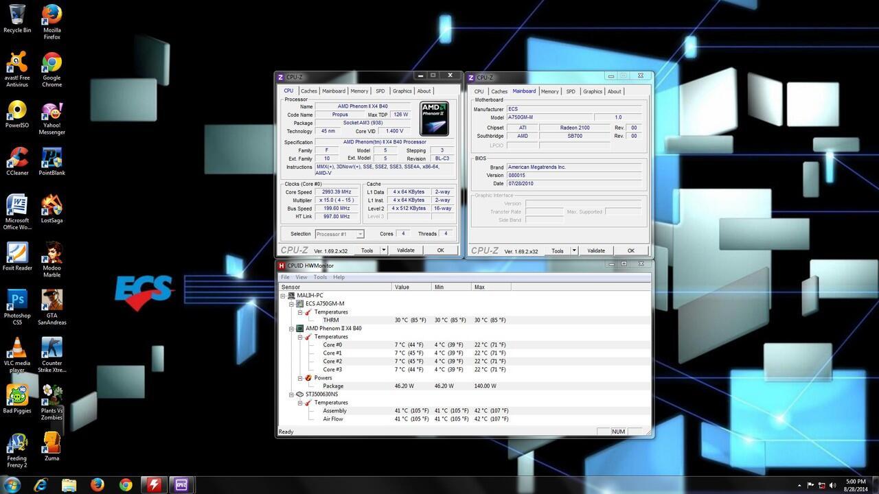 PC Desktop AMD Phenom II X4