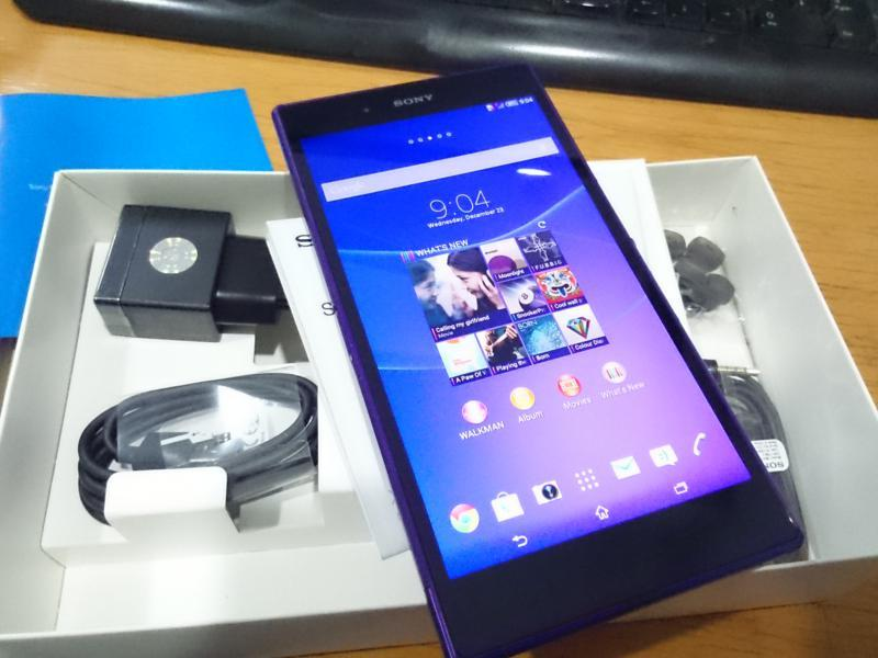 Sony Xperia Z Ultra Purple Dus lengkap garansi Jan 2015