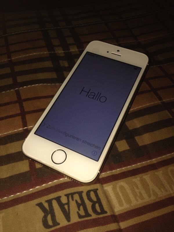 Iphone 5s gold 32GB lock Icloud lost