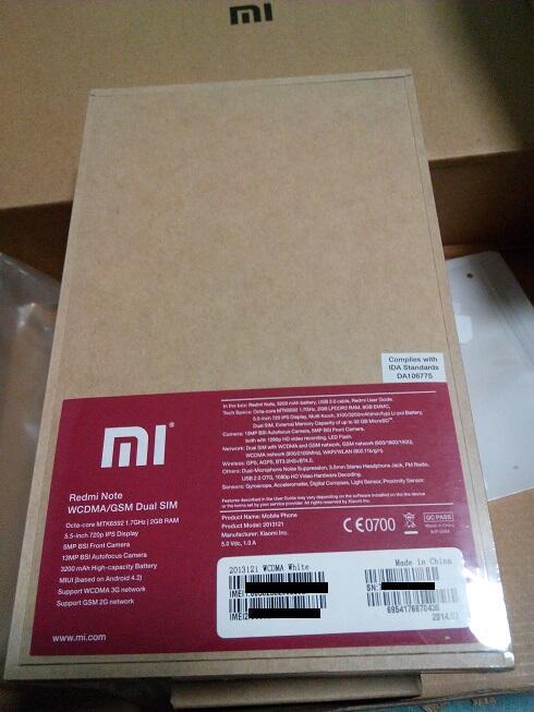 BNIB Redmi Xiaomi Note WCDMA ORI