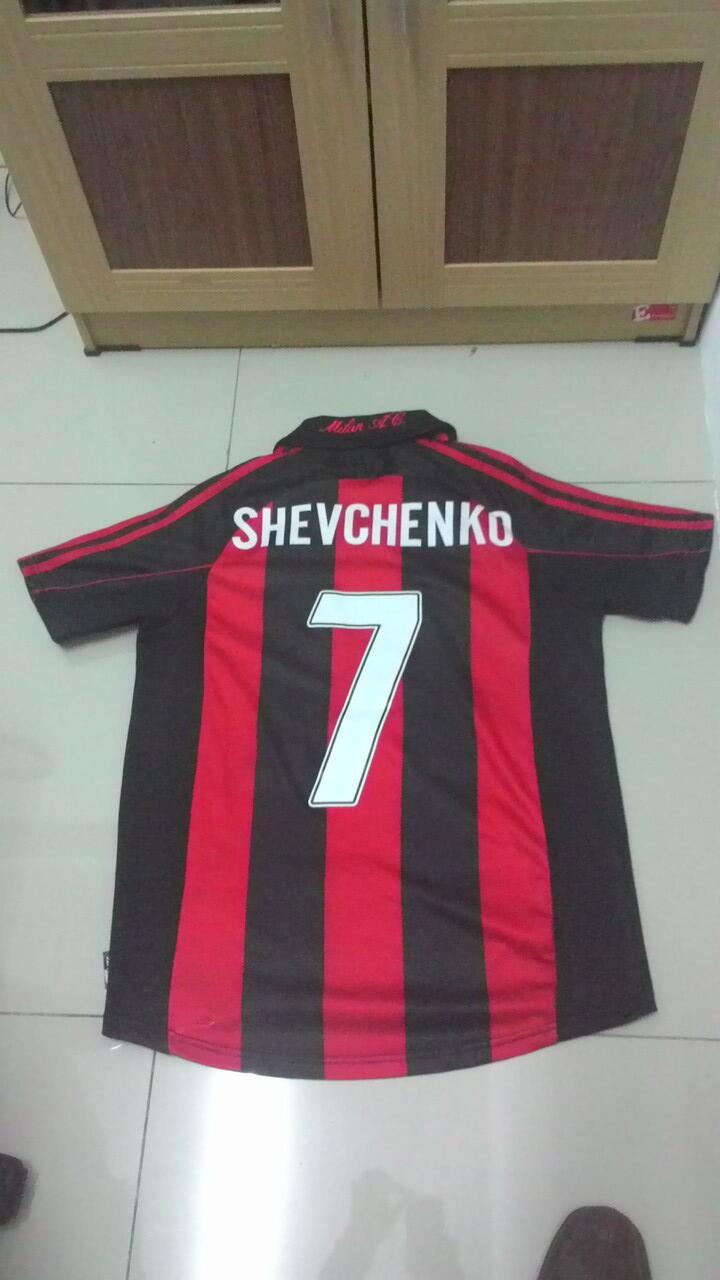 JERSEY AC MILAN 2001-2002 nns SHEVCHENKO 7