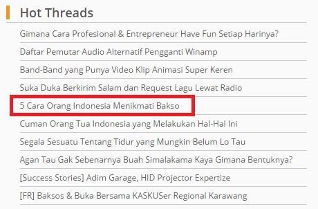 Cara Orang Indonesia Makan Bakso