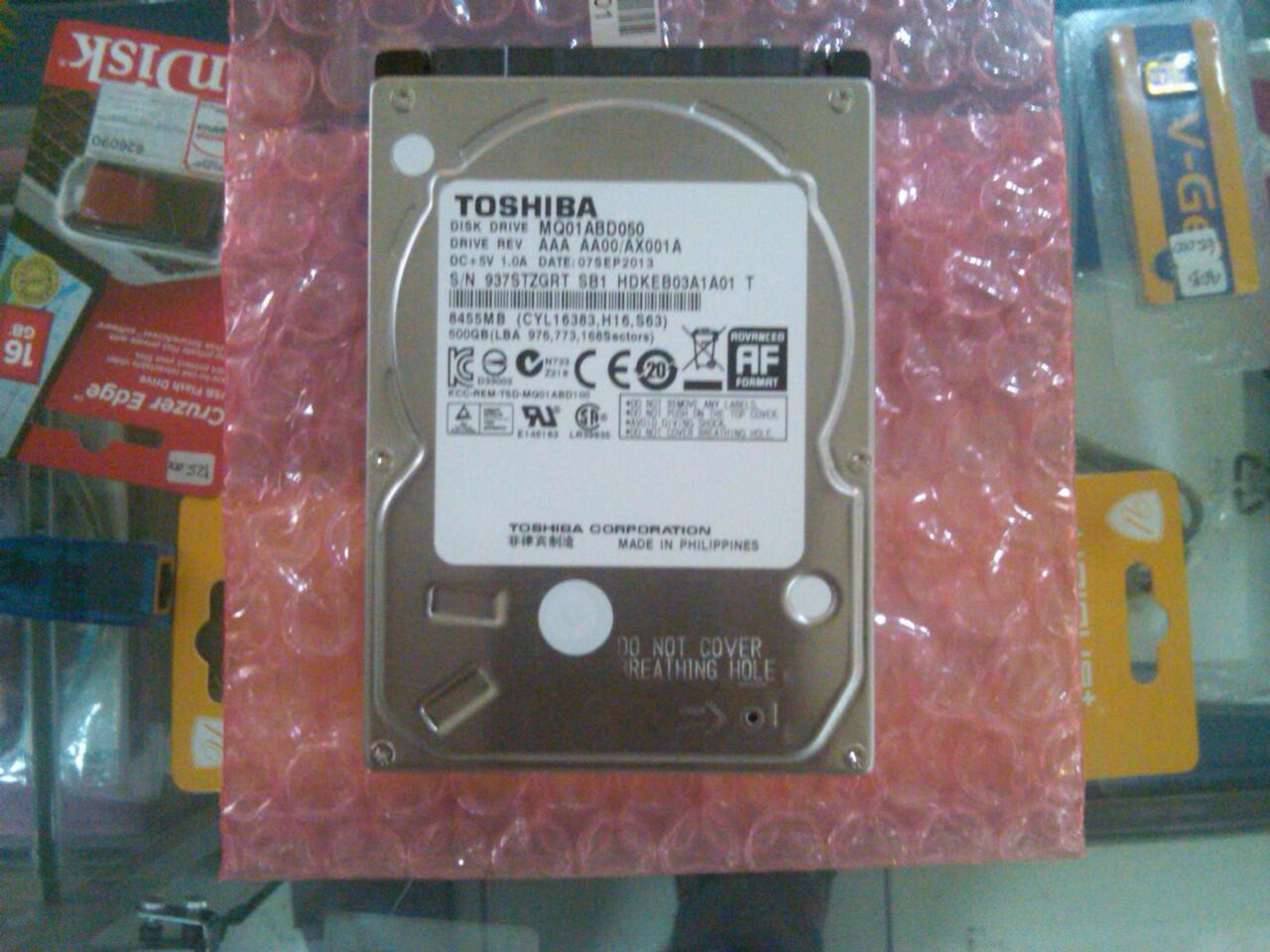 Terjual Hardisk 500gb Toshiba Buat Laptop Kaskus