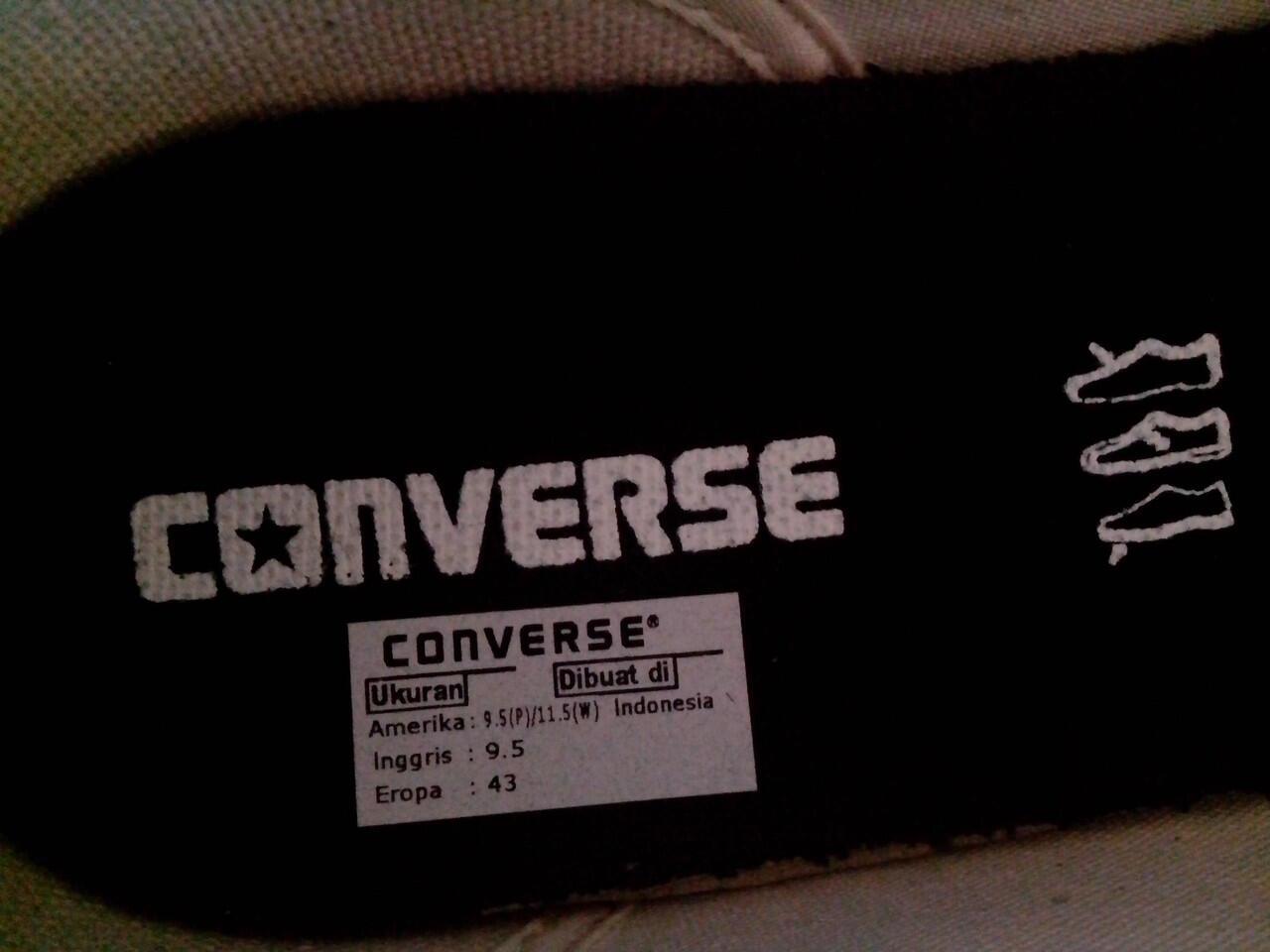 Wts murah aja sepatu converse prostar size 43