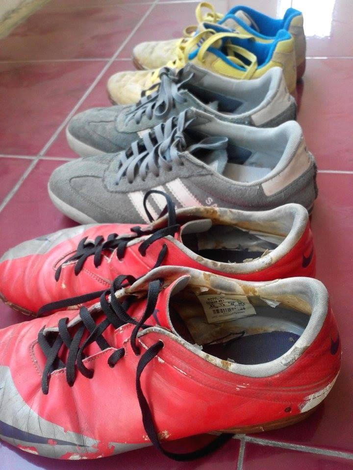 sepatu futsal Nike + futsal Kelme + casual adidas samba