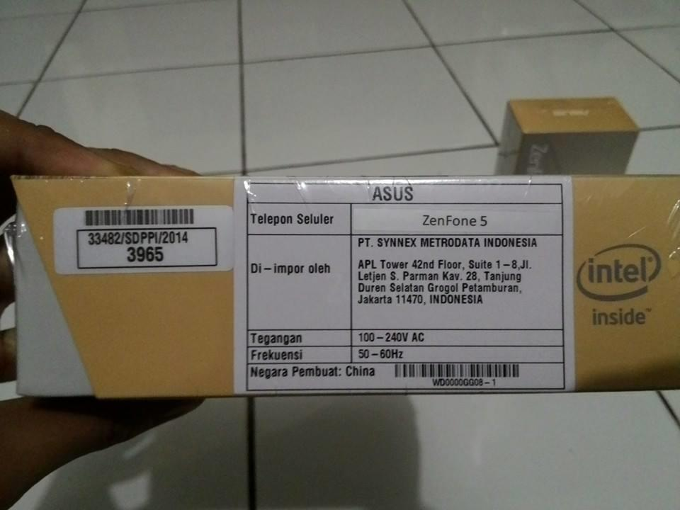 WTS : ASUS Zenfone 5 A500CG Garansi Resmi (Metrodata)