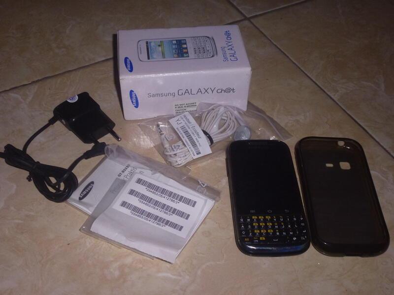 Samsung Galaxy Chat Jelly Bean Hitam Mulus