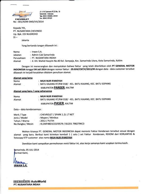 Chevrolet Indonesia, 1 Tahun 3 Bulan, STNK ???