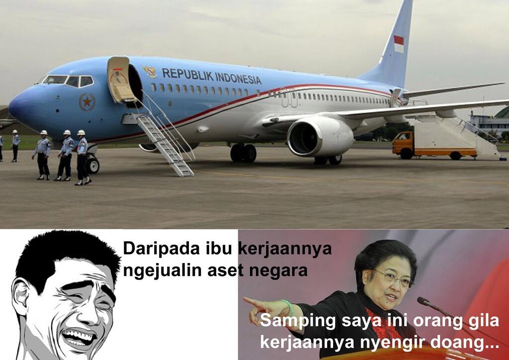 Gara Gara Meme Ini Akhirnya Pesawat Kepresidenan Batal Dijual [ngakak]