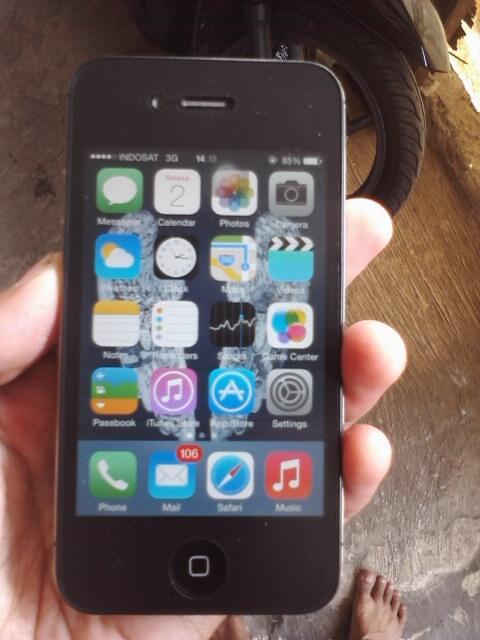 iPhone 4s 16gb Black FU Mulus Murah Fullset