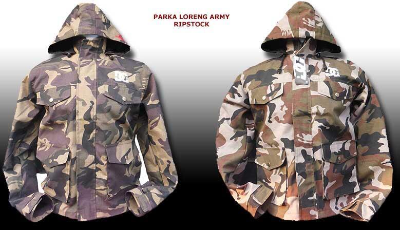 Parka Army Loreng Ripstock, Harga Grosir dan Eceran, Hanya Rp 120.000