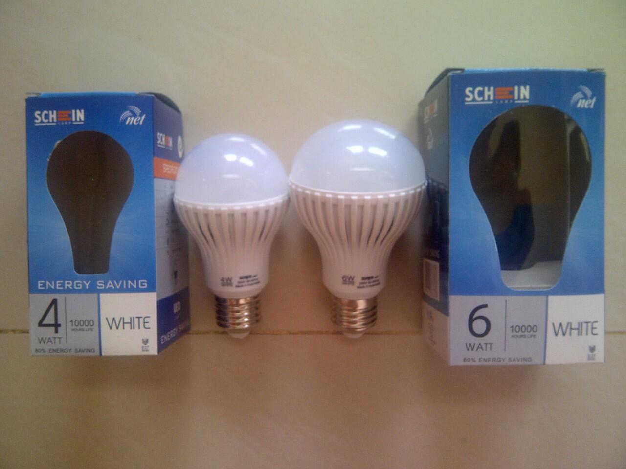 Lampu LED merk SCHEIN NET LED 4 W dan 6 W