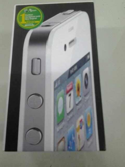 -= Jual iPhone 4g 16 gb white ,new !!=-