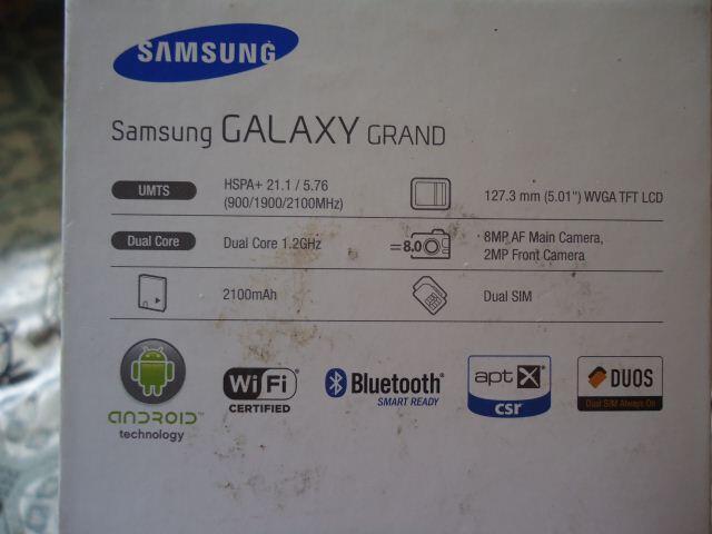 Jual HP SAMSUNG GALAXY GRAND 1 GT - I9082 Metalic Blue ex garansi sein kondisi 95%