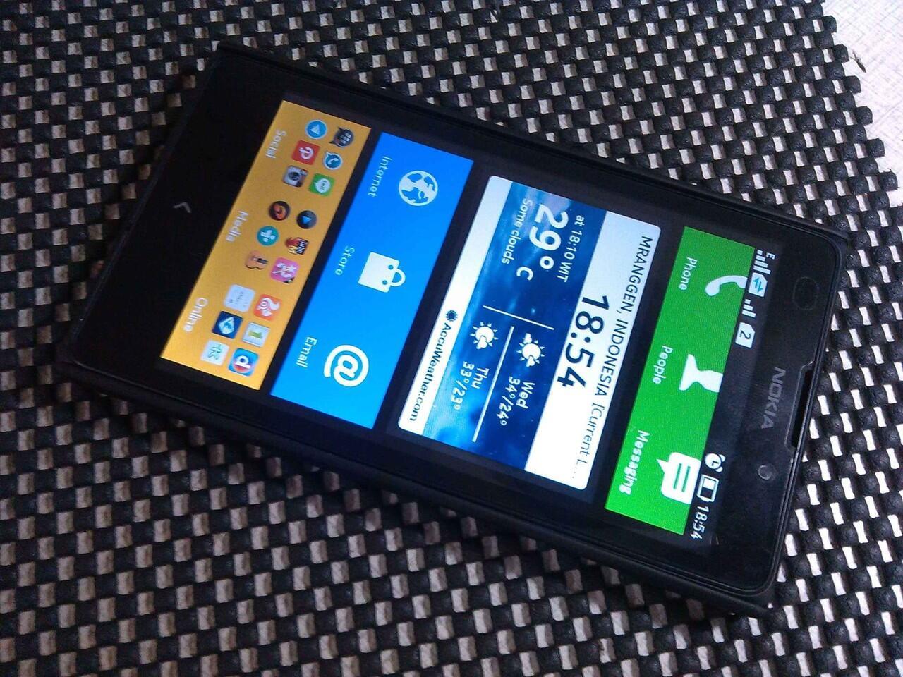 android nokia XL 5 inch dual black murah garansi juni 2015 semarang