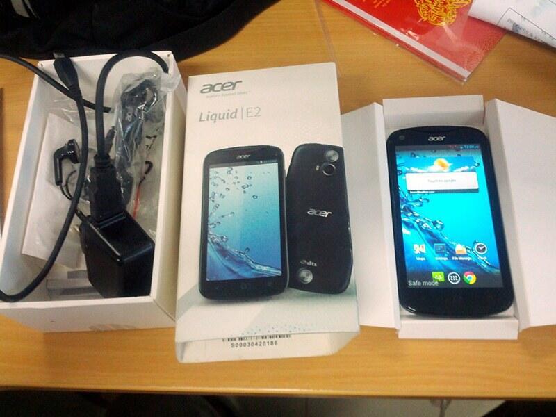 Acer Liquid E2, 1 Gb Ram, Quadcore, Camera 8 Mp