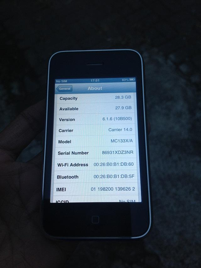 IPHONE 3GS 32GB FU Black Lengkap 97% Mulus