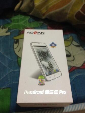 Advan S5e PRO white Murah terbaru Fullset BNOB baru beli hari ini rekber