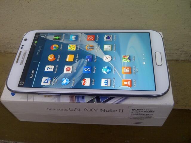 Samsung Note II,white mulus fullset Gt N7100,fullset bandung