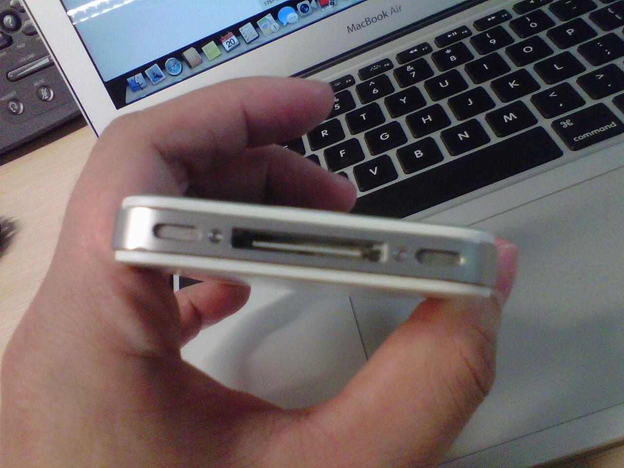 iphone 4 putih garansi sampai november 2014 beli di ibox (ada notanya) - mulus - la