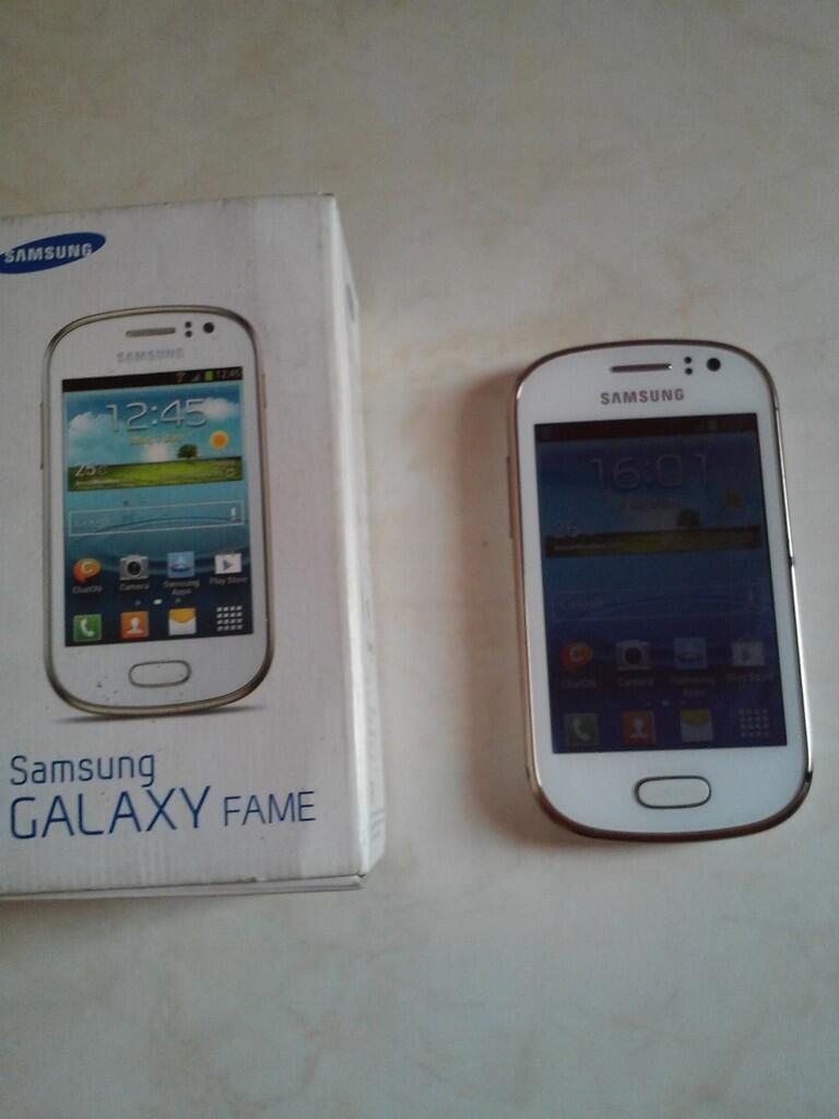 JUAL HP Samsung Galaxy Fame S6810 White Solo Area