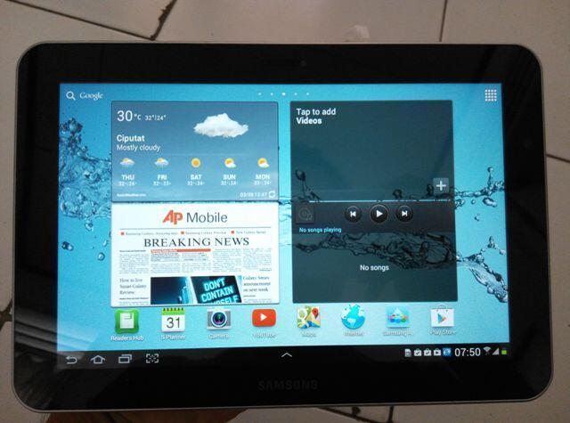 "Samsung Galaxy Tab GT-P7300 8,9"" white muluss fullset"
