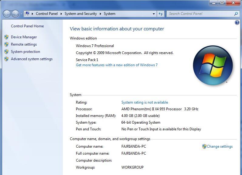 Ram 4gb Usable 2gb Di Windows 7 64bit Kaskus