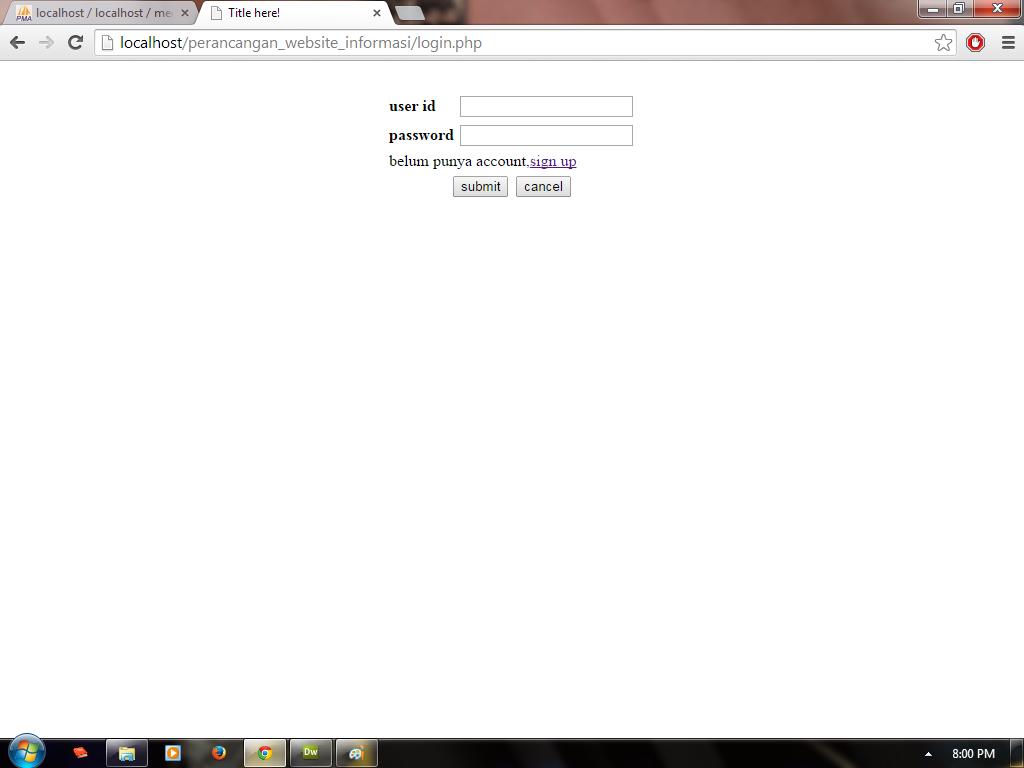 [help] tentang form login di php