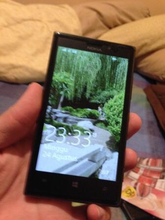 Nokia Lumia 925 hitam Mulus, garansi panjang