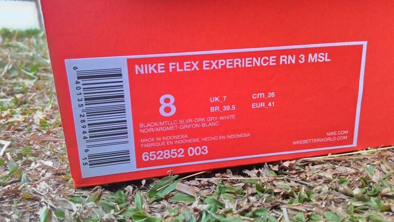 Jual sepatu running NIKE FLEX EXPERIENCE RN 3 MSL Hitam black Original