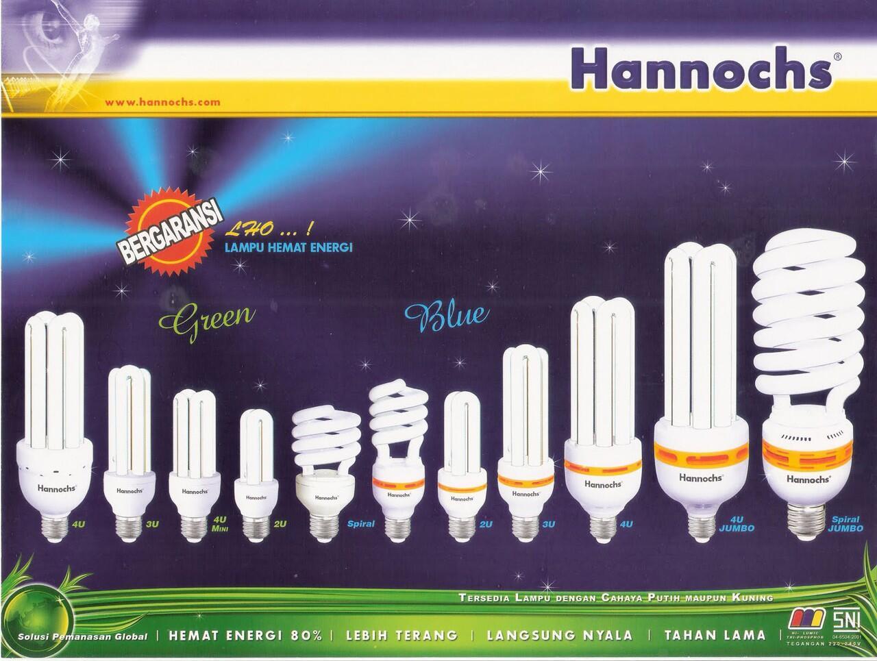 GROSIR LAMPU LED MERK HANNOCHS TERMURAHH....