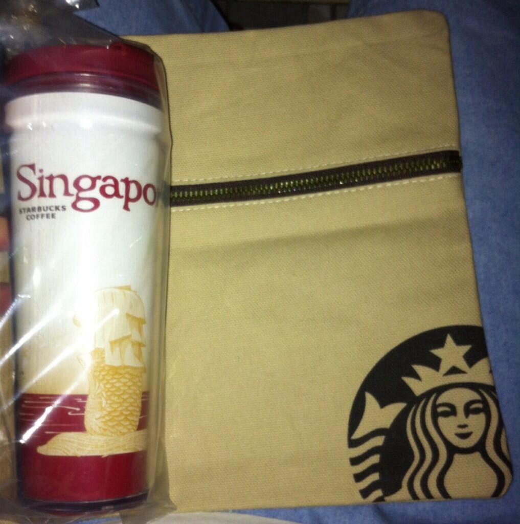 Starbucks Singapore Tumbler bonus Planner 14 Pouch