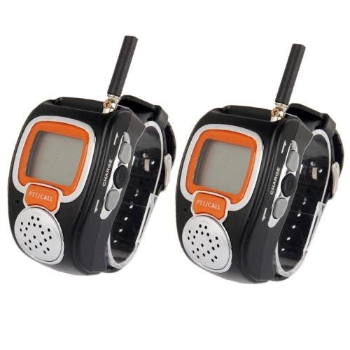 Freetalker Watch Walkie Talkie 462MHz-467MHz Up to 6Km of Range - 2pcs - Black