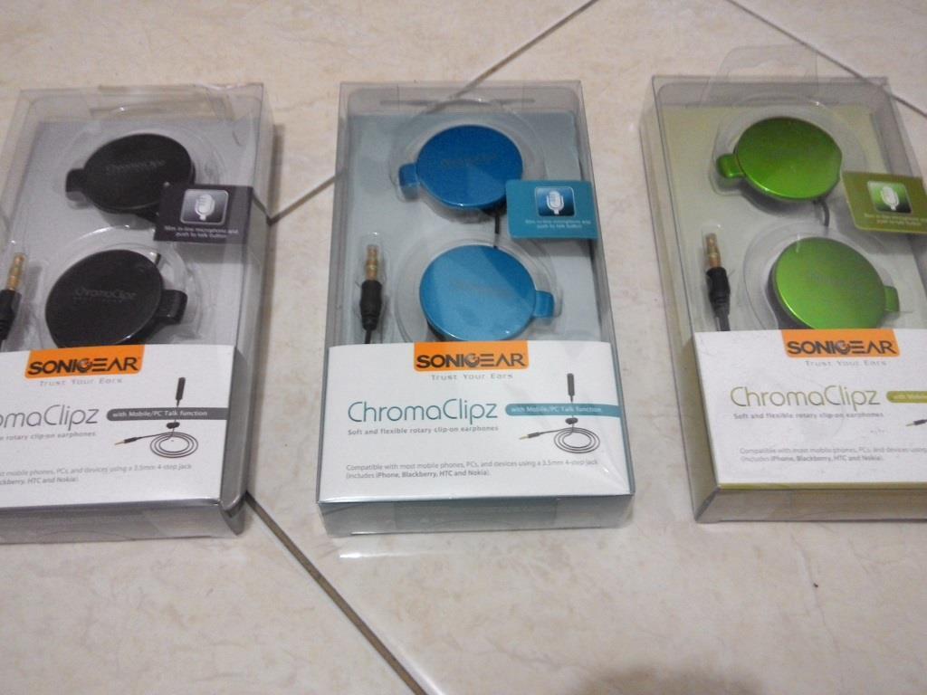 BNIB Headset Sonicgear Crhoma Clipz Hanya 30rb-an