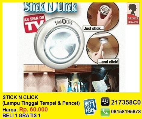 STICK N CLICK - Lampu Tinggal Tempel Dan Pencet   Beli 1 Gratis 1   As Seen On TV